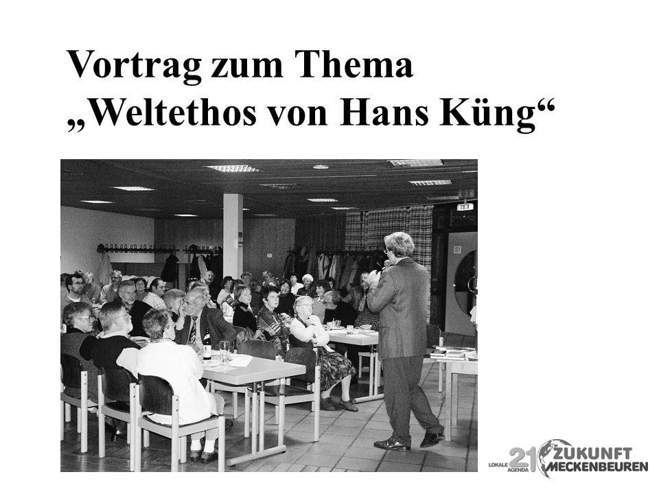 Vortrag zum Thema Weltethos von Hans Küng