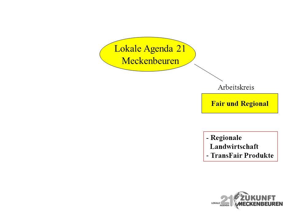 Arbeitskreis - Regionale Landwirtschaft - TransFair Produkte Fair und Regional Meckenbeuren Lokale Agenda 21