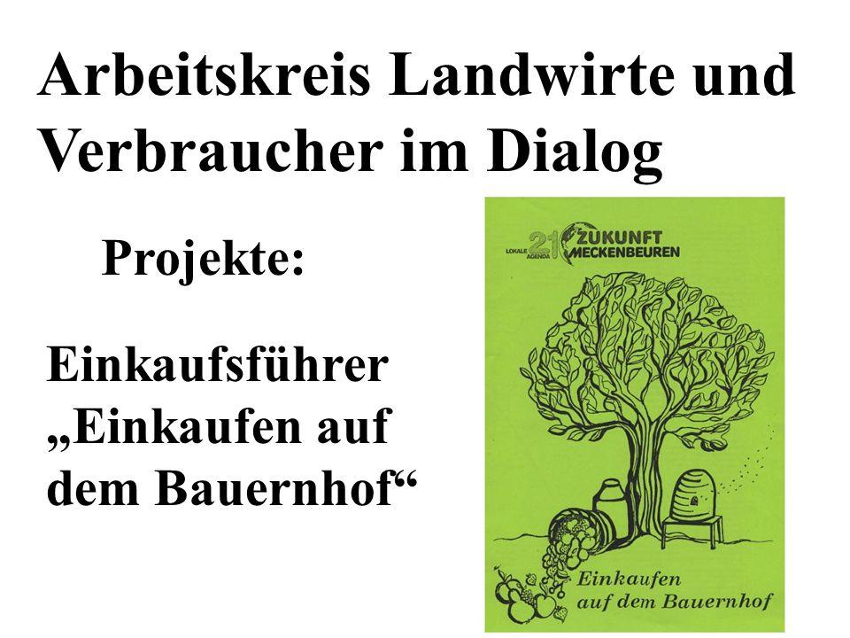 Arbeitskreis Landwirte und Verbraucher im Dialog Projekte: Einkaufsführer Einkaufen auf dem Bauernhof