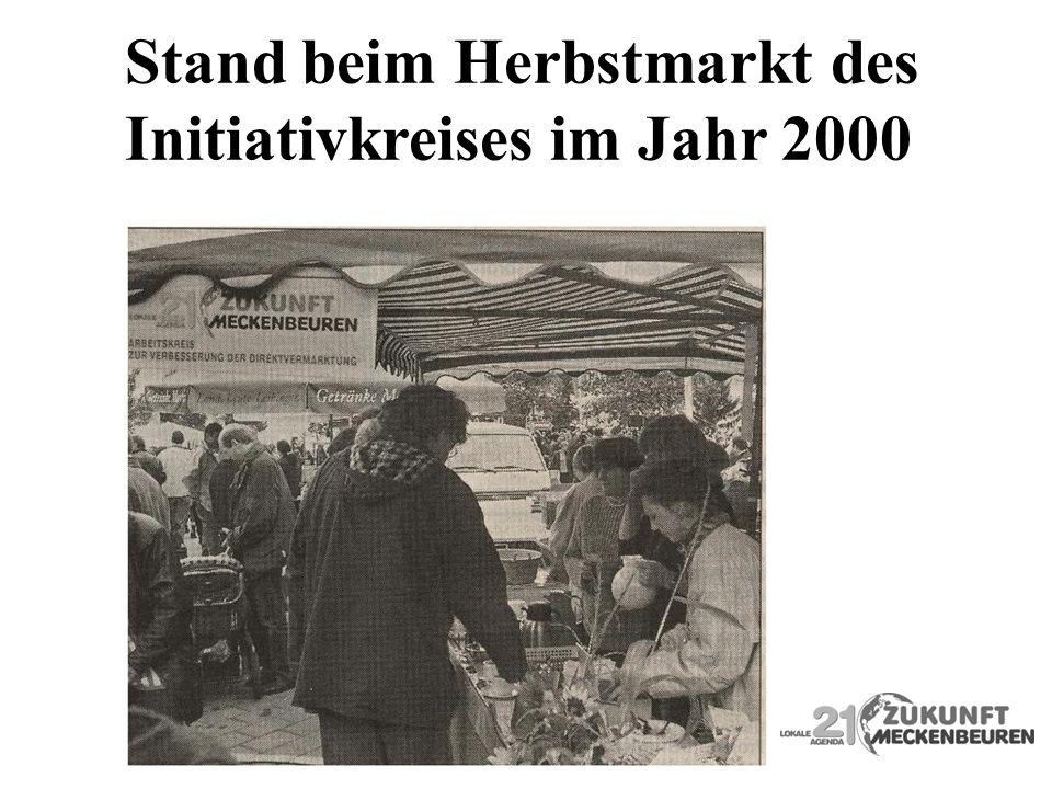 Stand beim Herbstmarkt des Initiativkreises im Jahr 2000