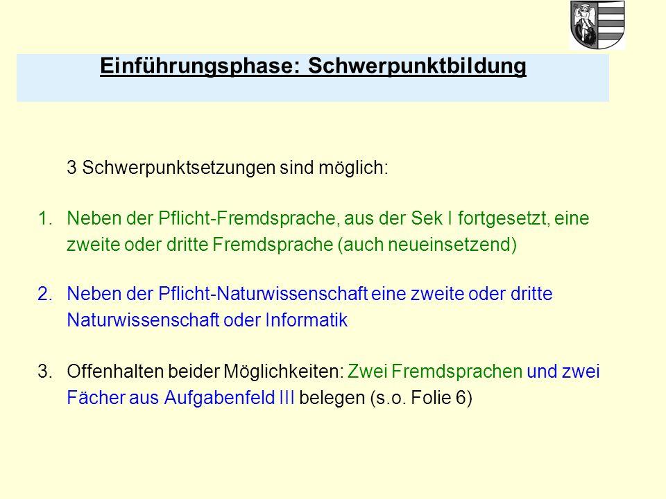 28 Berechnung der Gesamtqualifikation, Abiturbereich (Block II) Block II: Abiturprüfung (mind.