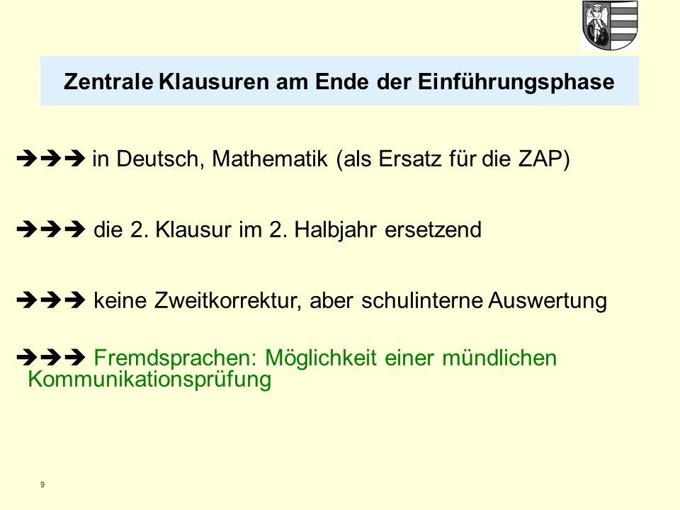 20 Folgende Abiturfachkombinationen sind – unabhängig von der Wahl als LK oder GK – ausgeschlossen: - zwei Naturwissenschaften (bzw.