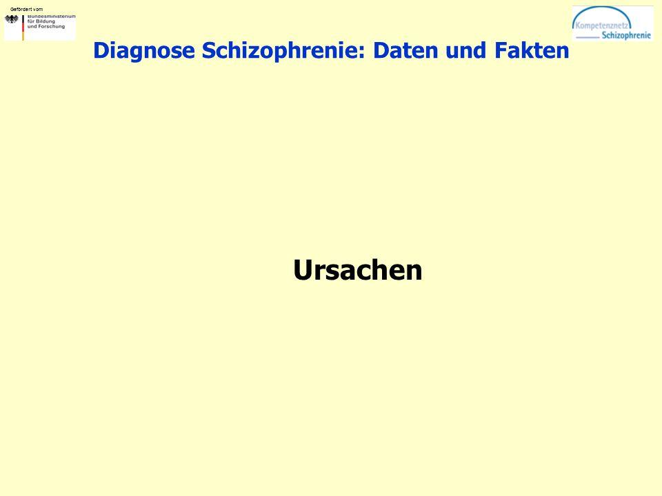 Gefördert vom Diagnose Schizophrenie: Daten und Fakten Ursachen