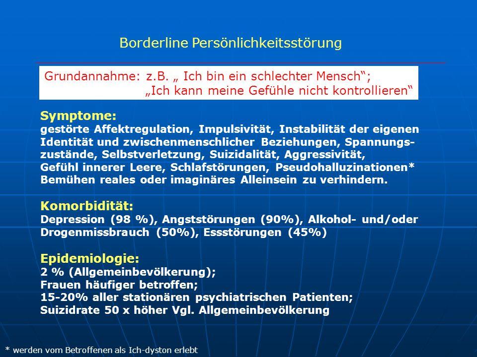 Borderline Persönlichkeitsstörung Symptome: gestörte Affektregulation, Impulsivität, Instabilität der eigenen Identität und zwischenmenschlicher Bezie