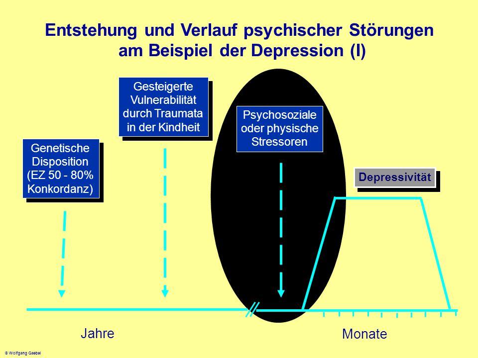 © Wolfgang Gaebel Jahre Monate Genetische Disposition (EZ 50 - 80% Konkordanz) Genetische Disposition (EZ 50 - 80% Konkordanz) Gesteigerte Vulnerabili
