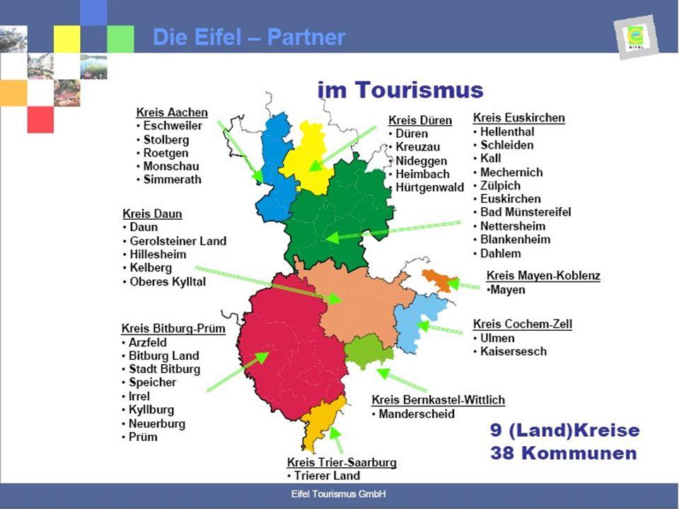 Auszug aus dem Verwaltungsbericht des Geschäftsjahres 2006 Touristik und Wirtschaftsförderungsgesellschaft mbH Gerolsteiner Land Erledigung der Aufgabenstellung Marketing für den Tourismus, Wirtschafts- und Wohnstandort in der TW: Schwerpunktaufgabe der TW ist die touristische Vermarktung des Gerolsteiner Landes.