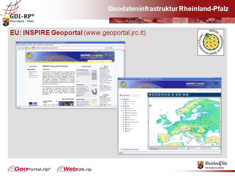 Geodateninfrastruktur Rheinland-Pfalz EU: INSPIRE Geoportal (www.geoportal.jrc.it)