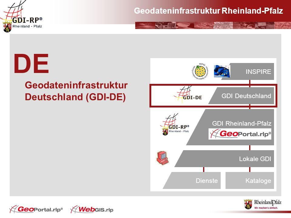 Geodateninfrastruktur Rheinland-Pfalz DE Geodateninfrastruktur Deutschland (GDI-DE) Europa#INSPIRE GDI Deutschland GDI Rheinland-Pfalz Lokale GDI Kata