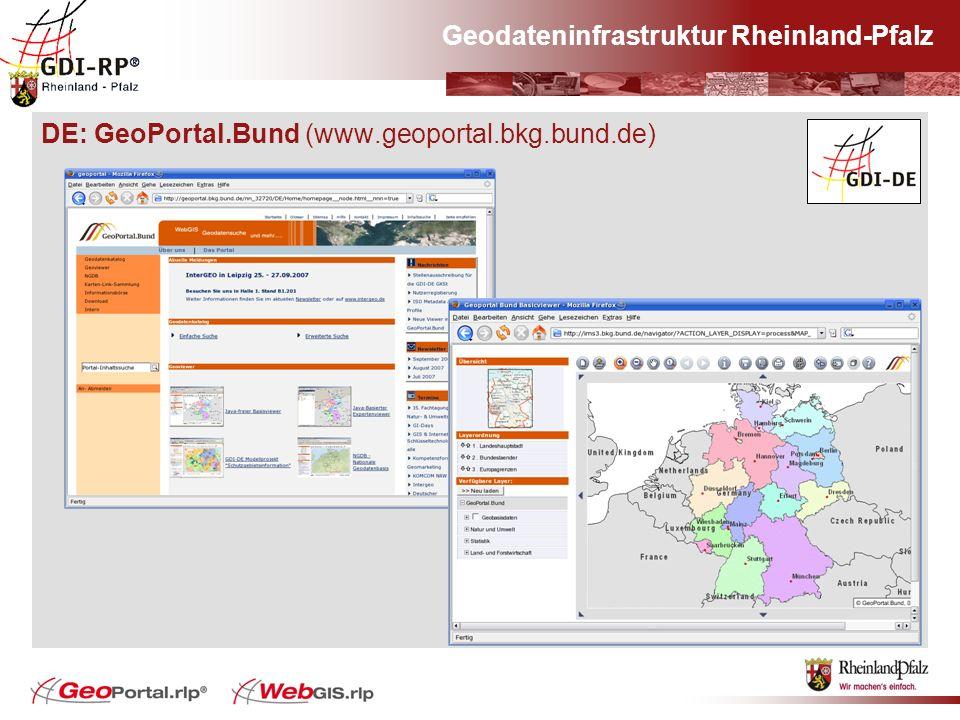Geodateninfrastruktur Rheinland-Pfalz DE: GeoPortal.Bund (www.geoportal.bkg.bund.de)