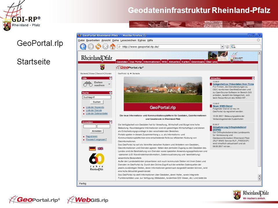 GeoPortal.rlp Startseite