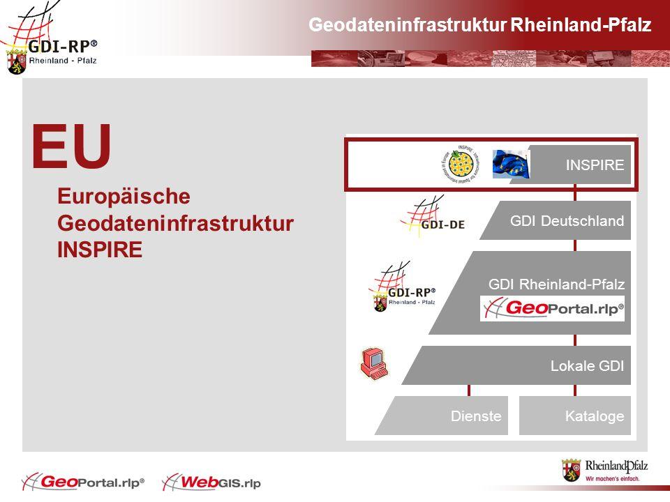EU Europäische Geodateninfrastruktur INSPIRE Europa#INSPIRE GDI Deutschland GDI Rheinland-Pfalz Lokale GDI KatalogeDienste