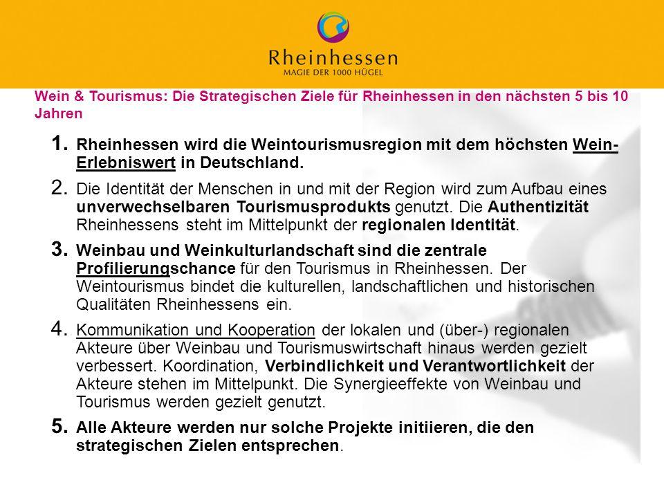 25 © 2006 PROJECT M / GfL 1. Rheinhessen wird die Weintourismusregion mit dem höchsten Wein- Erlebniswert in Deutschland. 2. Die Identität der Mensche