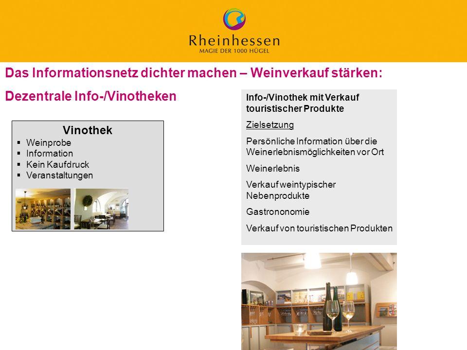 31 © 2006 PROJECT M / GfL Das Informationsnetz dichter machen – Weinverkauf stärken: Dezentrale Info-/Vinotheken Info-/Vinothek mit Verkauf touristisc