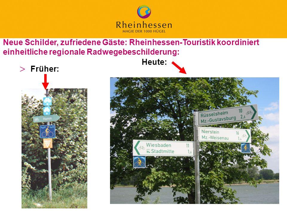 38 © 2006 PROJECT M / GfL Neue Schilder, zufriedene Gäste: Rheinhessen-Touristik koordiniert einheitliche regionale Radwegebeschilderung: Früher: Heut