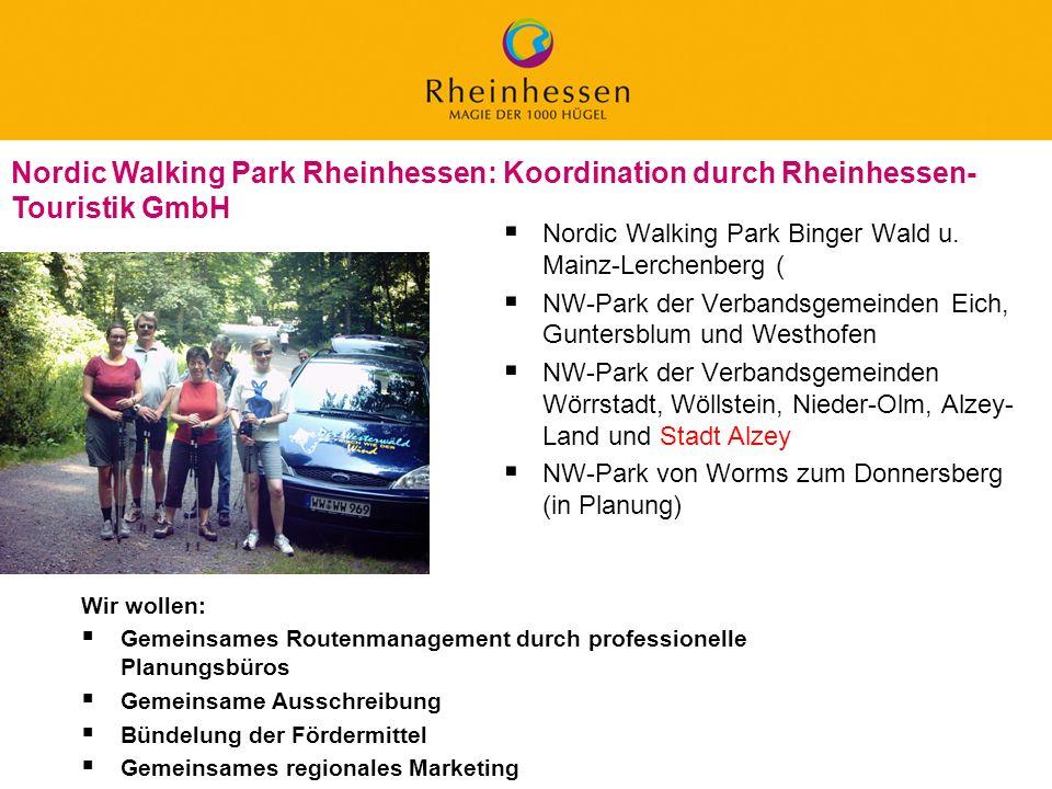 40 © 2006 PROJECT M / GfL Nordic Walking Park Binger Wald u. Mainz-Lerchenberg ( NW-Park der Verbandsgemeinden Eich, Guntersblum und Westhofen NW-Park