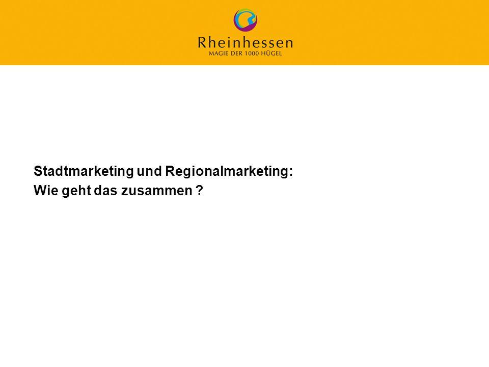 43 © 2006 PROJECT M / GfL Stadtmarketing und Regionalmarketing: Wie geht das zusammen ?
