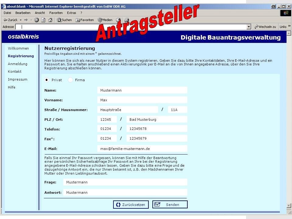 19 Screenshots Nutzerregistrierung Hier können Sie sich als neuer Nutzer in diesem System registrieren.