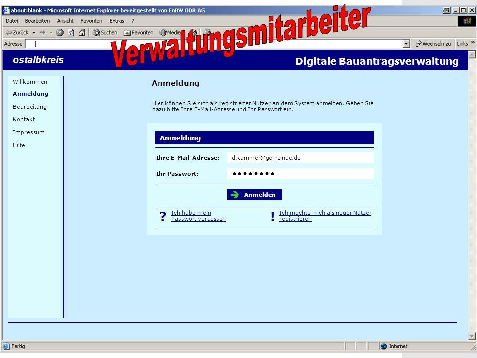 23 Screenshots ostalbkreis Anmeldung Digitale Bauantragsverwaltung Hier können Sie sich als registrierter Nutzer an dem System anmelden.