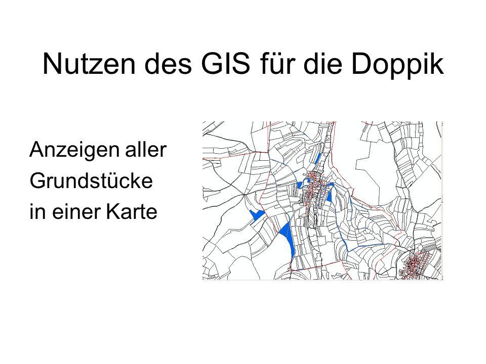 Nutzen des GIS für die Doppik Anzeigen aller Grundstücke in einer Karte
