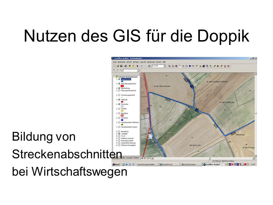 Nutzen des GIS für die Doppik Bildung von Streckenabschnitten bei Wirtschaftswegen