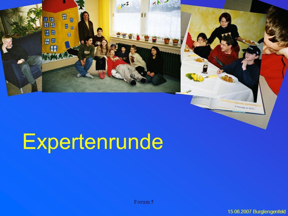 15.06.2007 Burglengenfeld Forum 5 Expertenrunde
