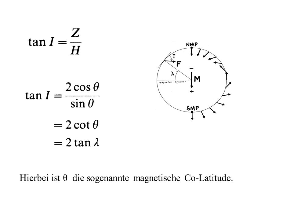 Beispiel-Rechnung: Basalt-Probe aus einem gegenwärtigen Ort an 47 S, 20 E.