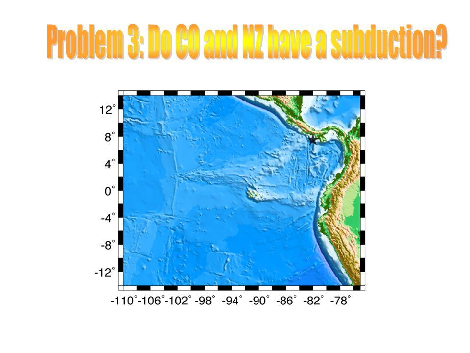 CO NZ pole: 4.8N 124.3W 1.36 deg/Myr V @ 7.5N 82W: 67.8 mm/yr N359E