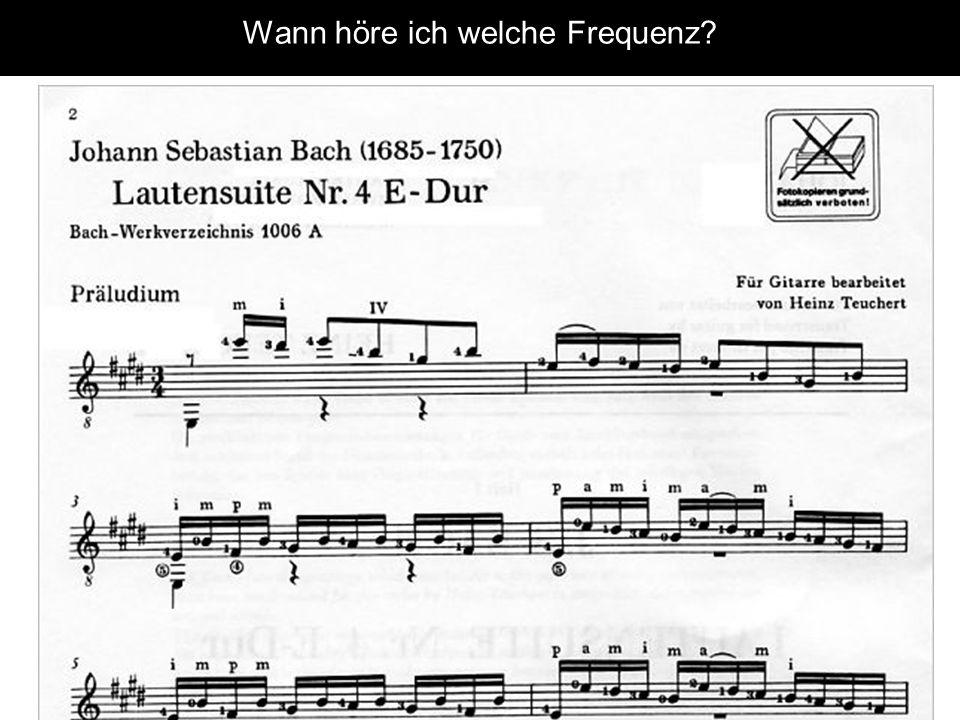 Wann höre ich welche Frequenz?