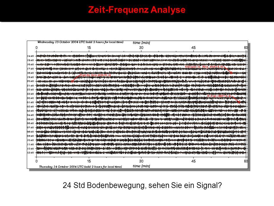 Zeit-Frequenz Analyse 24 Std Bodenbewegung, sehen Sie ein Signal?