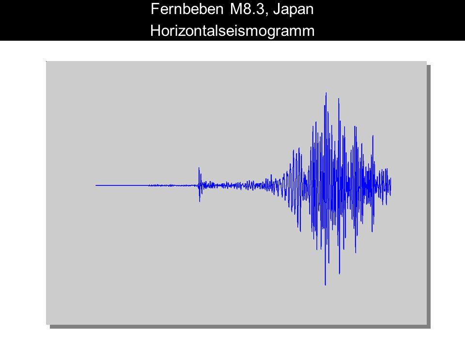 Fernbeben M8.3, Japan Horizontalseismogramm