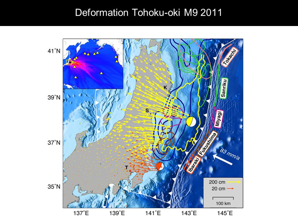 Deformation Tohoku-oki M9 2011