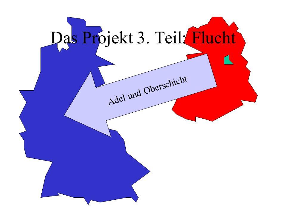 Das Projekt 3. Teil: Flucht Adel und Oberschicht