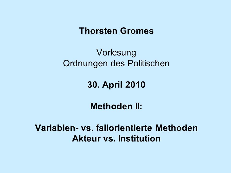 Thorsten Gromes Vorlesung Ordnungen des Politischen 30.
