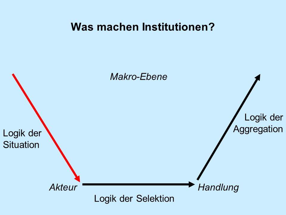 Was machen Institutionen.