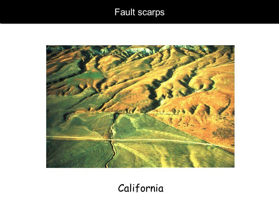www.geophysik.uni-muenchen.de -> Studium -> VorlesungenSeismology - Slide 35 Fault scarps California