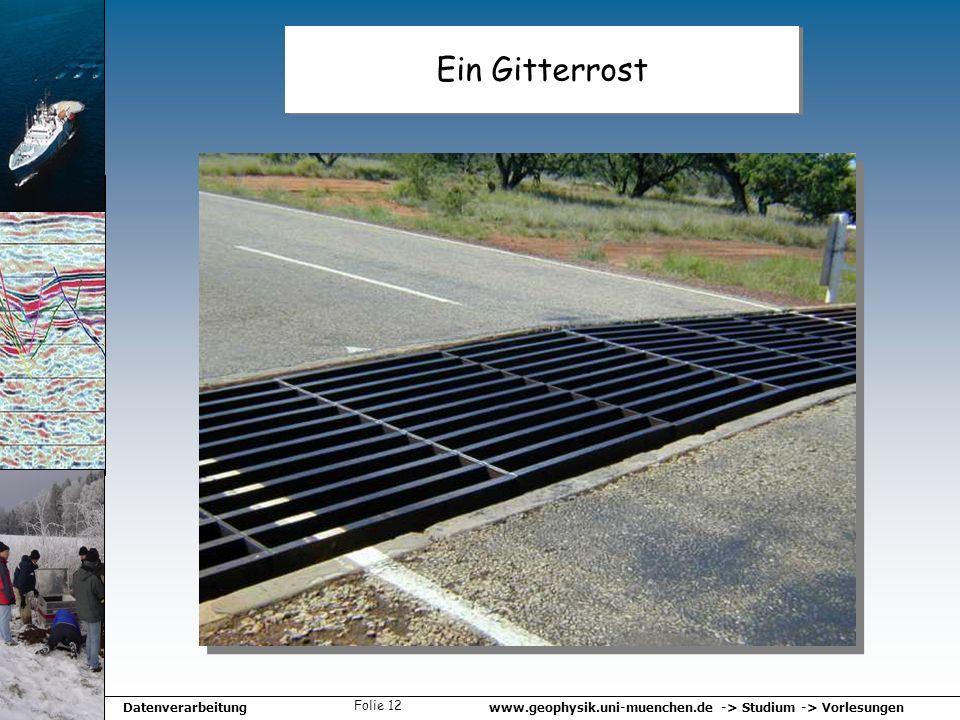 www.geophysik.uni-muenchen.de -> Studium -> VorlesungenDatenverarbeitung Folie 12 Ein Gitterrost
