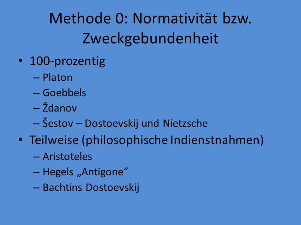 Methode 0: Normativität bzw.