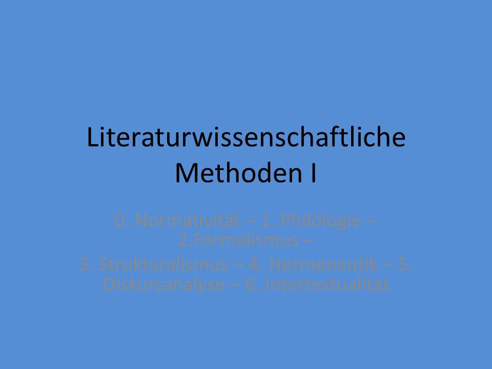 Literaturwissenschaftliche Methoden II (Poststrukturalismus in/ und Ost[mittel]europa) (späte) Kultursemiotik, Dekonstruktion, gender studies, post- colonial studies VORSCHAU