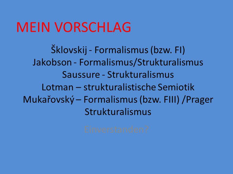 Šklovskij - Formalismus (bzw.