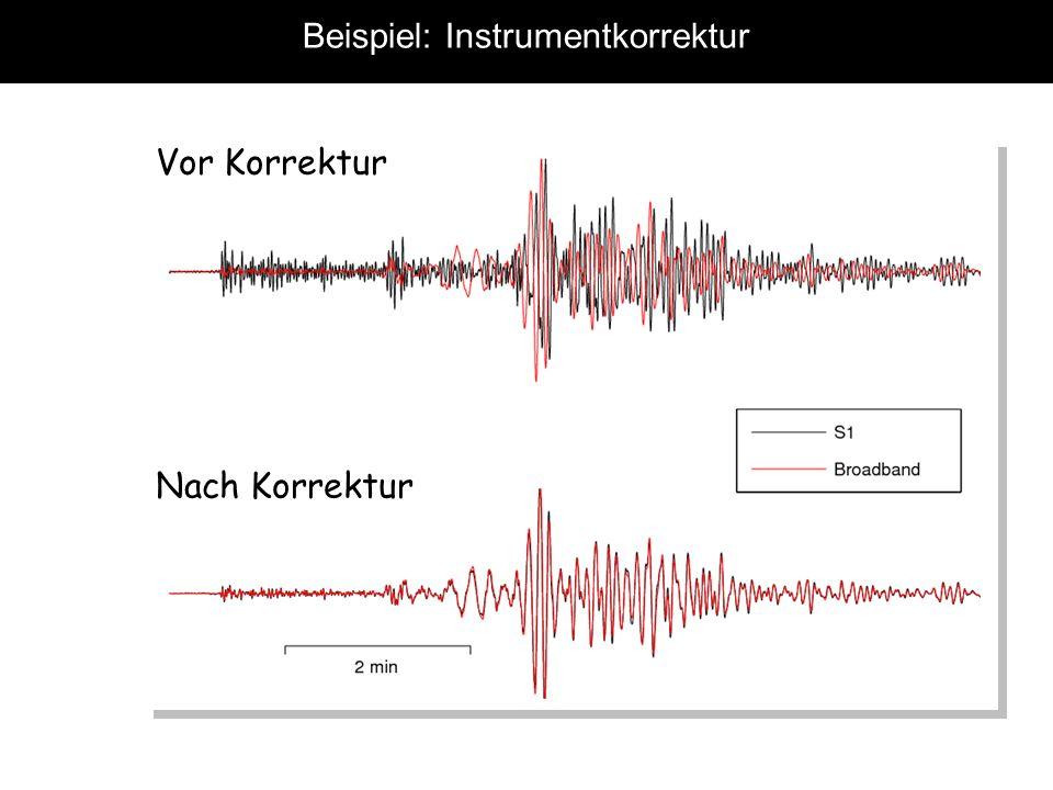 Beispiel: Instrumentkorrektur Vor Korrektur Nach Korrektur