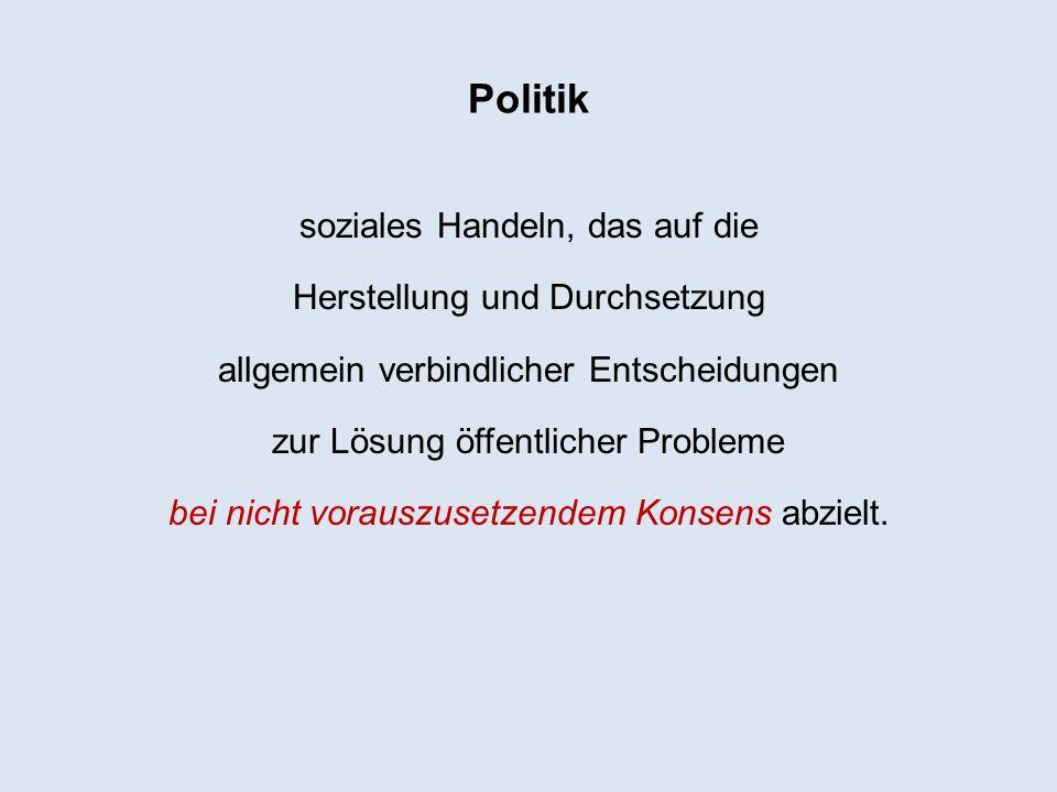 Konflikt als politische Ordnung Gäbe es keine Konflikte, müsste uns Politik überflüssig erscheinen.