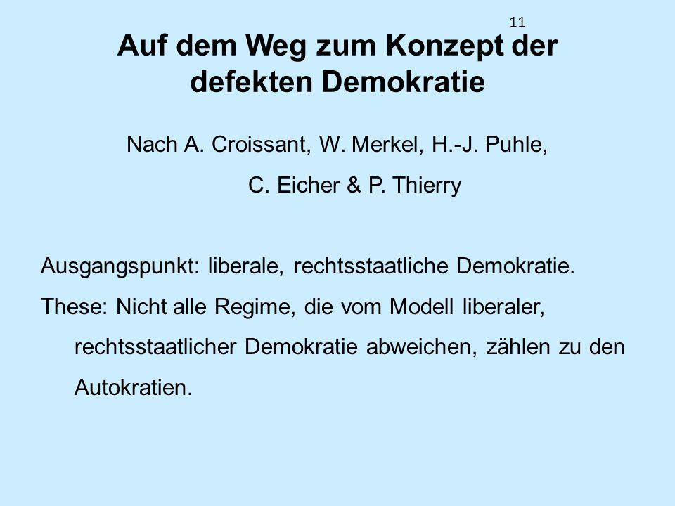 11 Auf dem Weg zum Konzept der defekten Demokratie Nach A.
