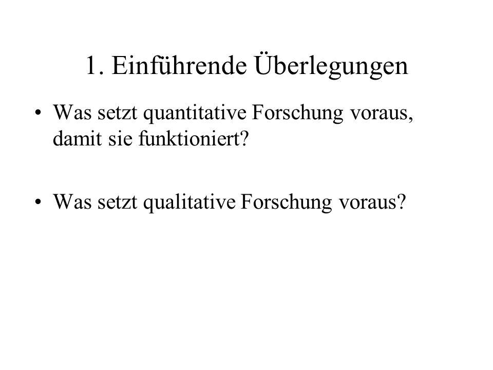 Gegenüberstellung 2 Quantitative Verfahren (Faktenbezogen: Beschreibung/ Theorie) : Fakten, Variable, Hypothesen Qualitative Verfahren (z.B.