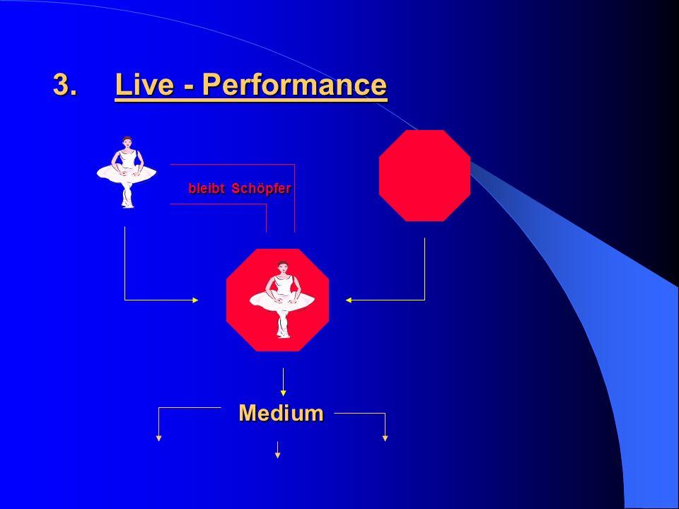3.Live - Performance bleibt Schöpfer Medium