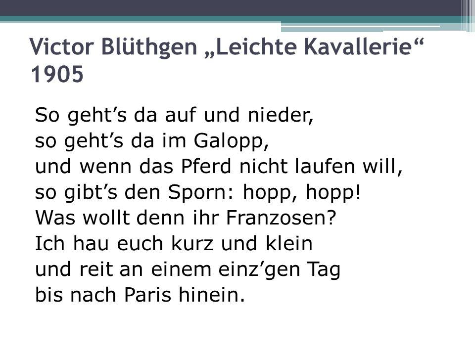 Victor Blüthgen Leichte Kavallerie 1905 So gehts da auf und nieder, so gehts da im Galopp, und wenn das Pferd nicht laufen will, so gibts den Sporn: h
