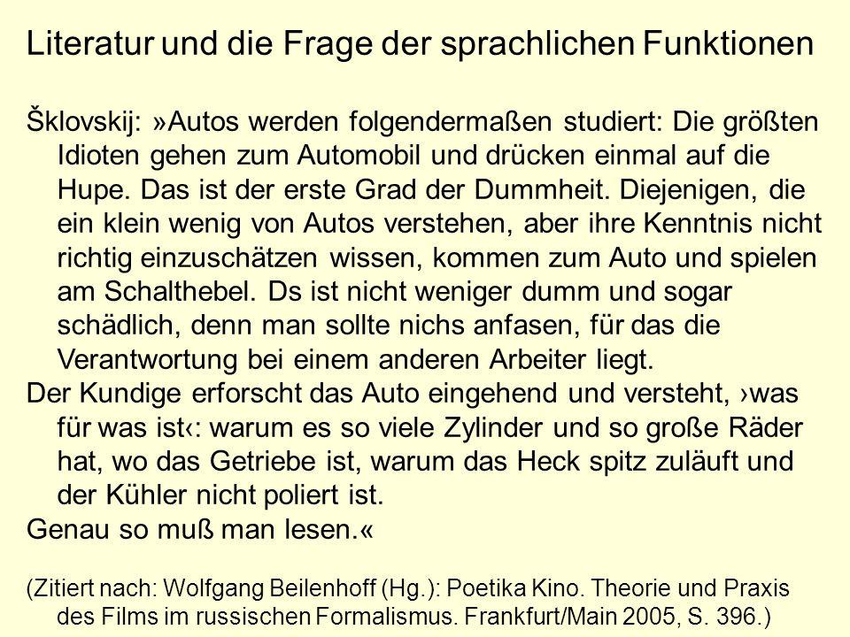 Saussure: Die Natur des sprachlichen Zeichens »Für manche Leute ist die Sprache im Grunde eine Nomenklatur, d.