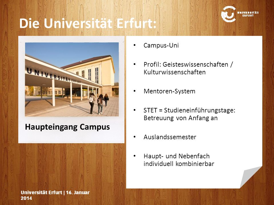 Universität Erfurt   16.Januar 201416.