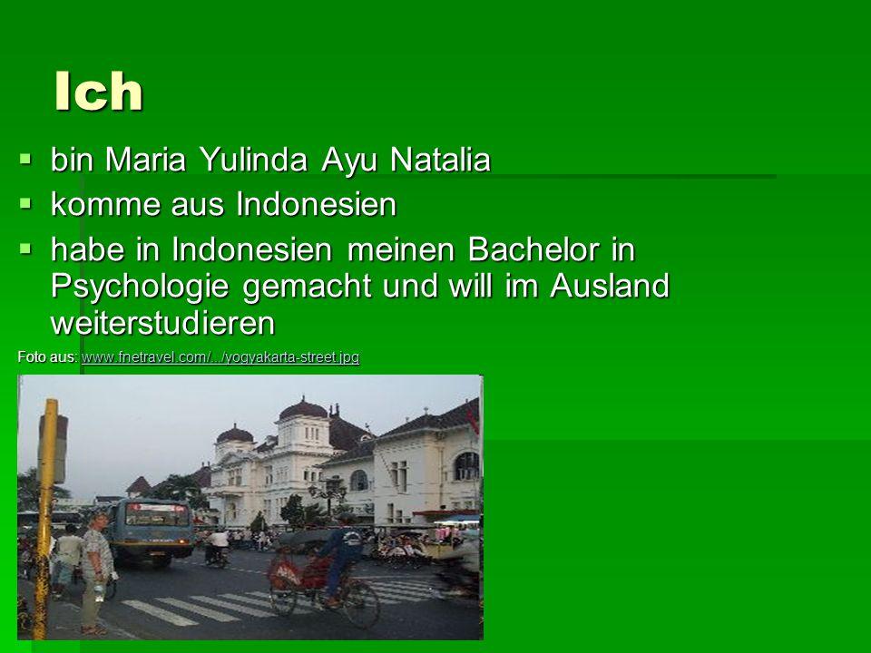 Ich bin Maria Yulinda Ayu Natalia bin Maria Yulinda Ayu Natalia komme aus Indonesien komme aus Indonesien habe in Indonesien meinen Bachelor in Psycho
