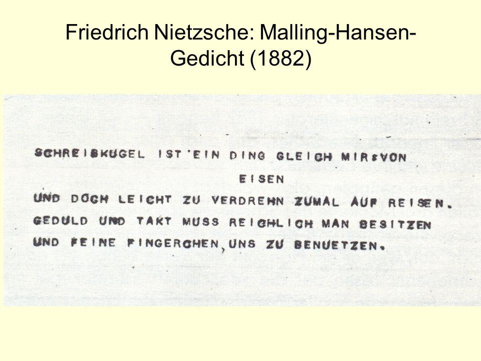 Friedrich Nietzsche: Malling-Hansen- Gedicht (1882)