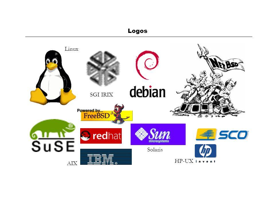 Logos Linux SGI IRIX AIX Solaris HP-UX